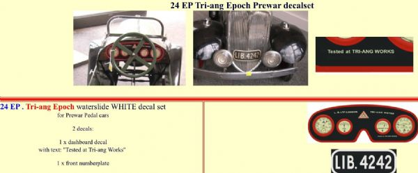 24EP Tri-ang Epoch Prewar decal set